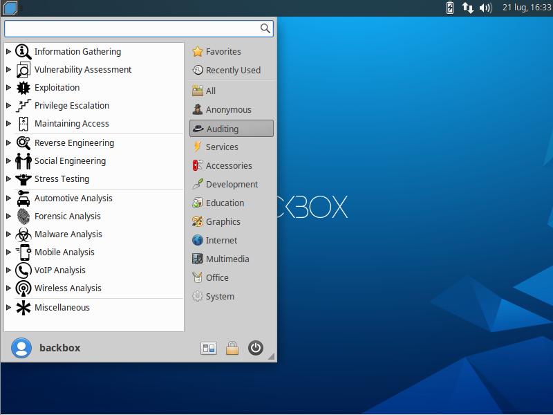 آشنایی با توزیع گنو/لینوکس BACKBOX OS ودانلود آن